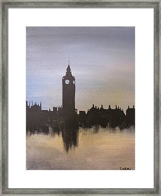 Framed Print featuring the painting Big Ben Of London by Gary Smith