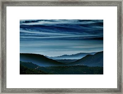 Big Bend At Dusk Framed Print