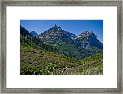Big Bend, Glacier National Park Framed Print