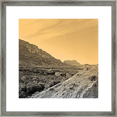 Big Bend Natinal Park At Sunset Framed Print by M K  Miller