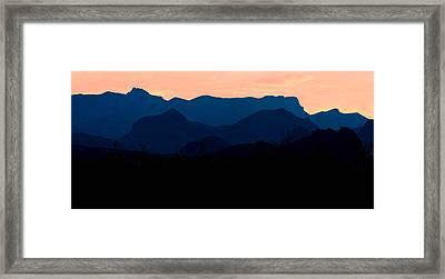 Big Bend Orange Blue Layers Framed Print
