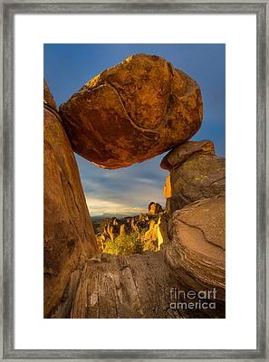 Big Bend Portal Framed Print by Inge Johnsson