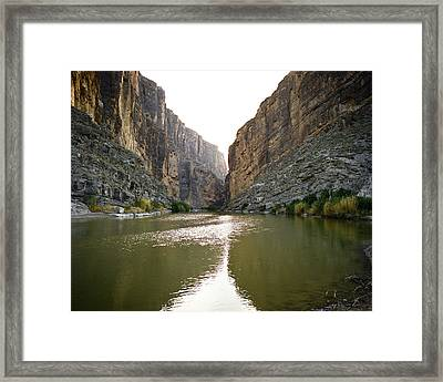 Big Bend Rio Grand River Framed Print by M K  Miller