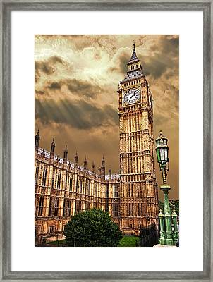 Big Ben's House Framed Print by Meirion Matthias