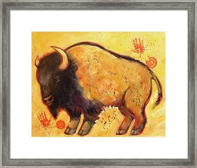 Big Bison Totem Framed Print