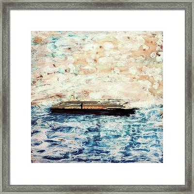 Big Black Ship Framed Print by Paul Tokarski