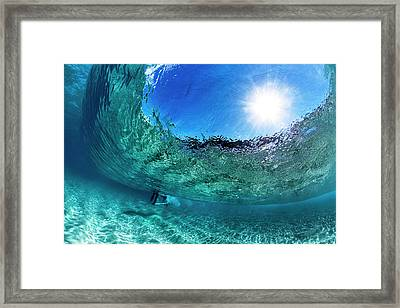 Big Blue Bubble Framed Print