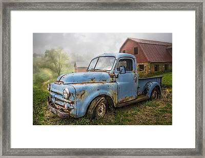 Big Blue Dodge Framed Print by Debra and Dave Vanderlaan