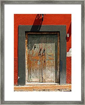 Big Blue Door Framed Print by Mexicolors Art Photography