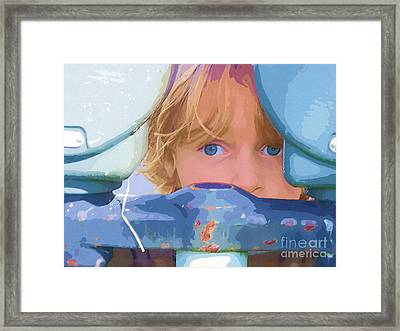 Big Blue Eyes Framed Print by Deborah MacQuarrie-Selib