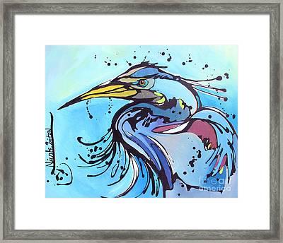 Big Blue Framed Print by Nicole Gaitan