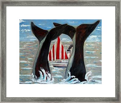 Big Blue Splash Framed Print by Charlie Spear