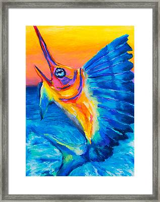 Big Blue Framed Print by Stephen Anderson