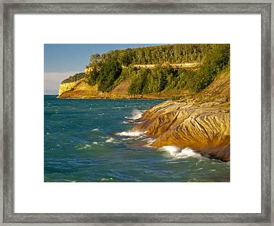 Big Blue Waters Framed Print by Cindy Lindow