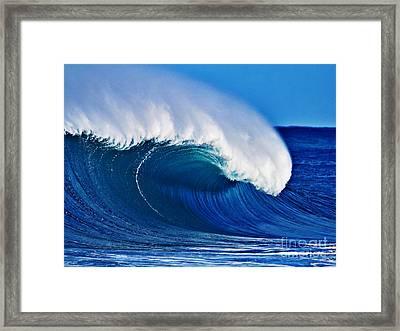 Big Blue Wave Framed Print by Paul Topp