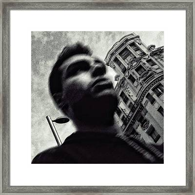 Big Boy #blackandwhite Framed Print