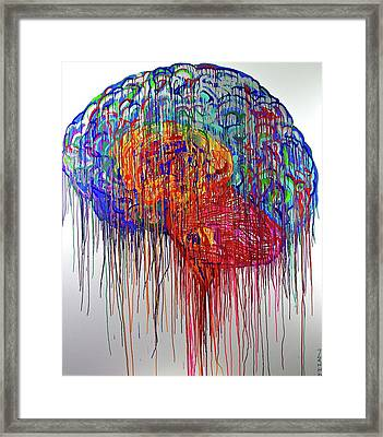 Brain Urbane Framed Print by Jiian Chapoteau