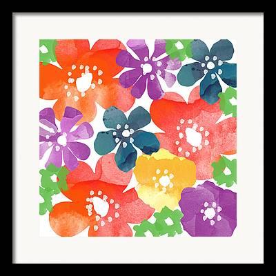 Flower Design Paintings Framed Prints