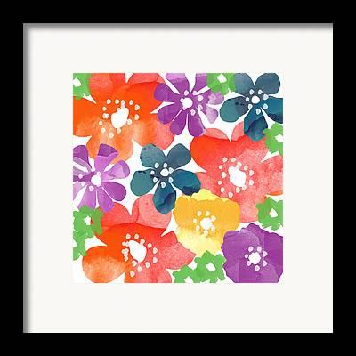 Bright Flowers Framed Prints