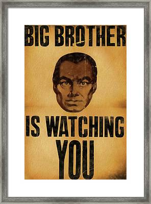 Big Brother Is Watching You Framed Print by Dan Sproul