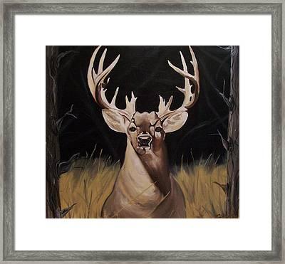 Big Buck Paintings Framed Print by Mikayla Ziegler
