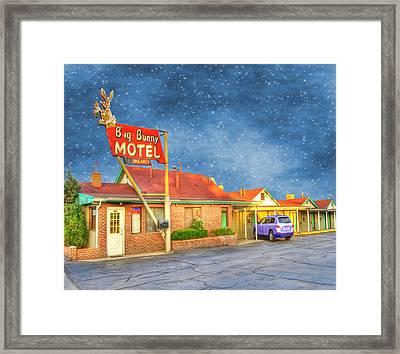 Big Bunny Motel Framed Print by Juli Scalzi