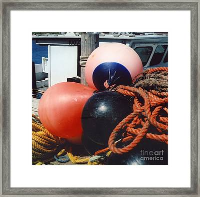 Big Buoys Framed Print by Andrea Simon