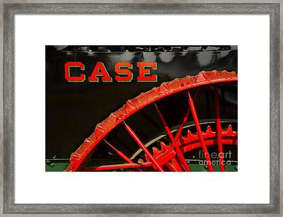 Big Case Wheel Framed Print