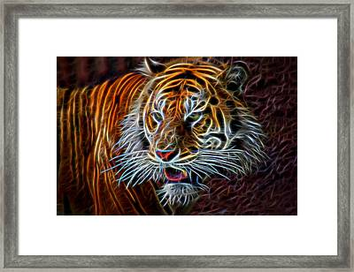 Framed Print featuring the digital art Big Cat by Aaron Berg