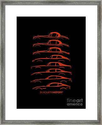 Big Cat Coupe Silhouettehistory Framed Print