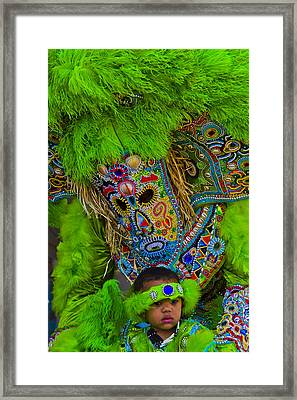 Big Chief Little Chief Framed Print by Roy Guste
