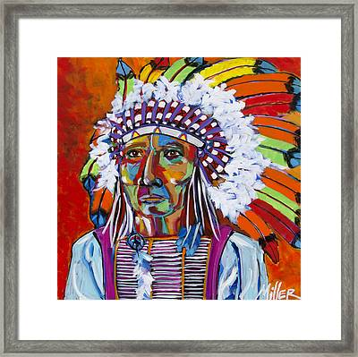 Big Chief Framed Print by Tracy Miller