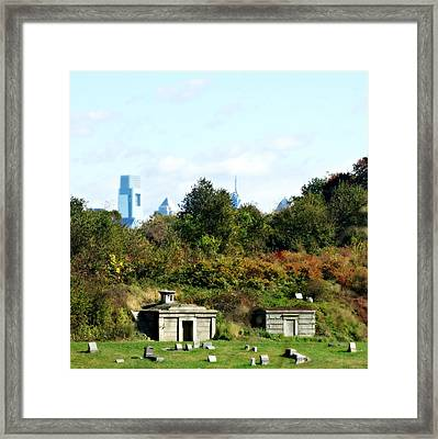 Big City, Little City Framed Print by Brenda Conrad