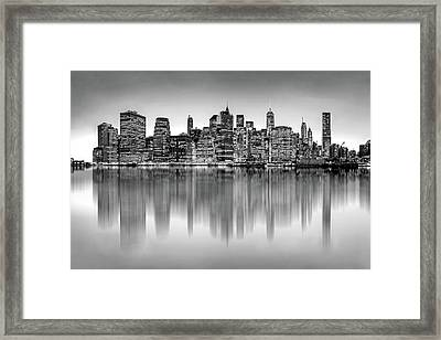 Framed Print featuring the photograph Big City Reflections by Az Jackson