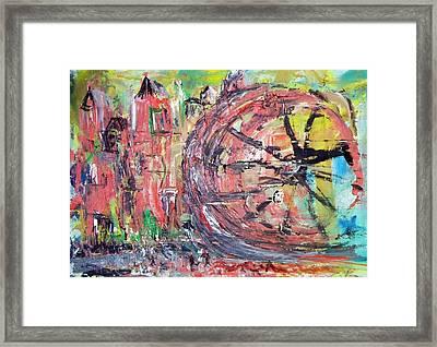 Big City Wheel Vs Little People Framed Print by Lynda McDonald