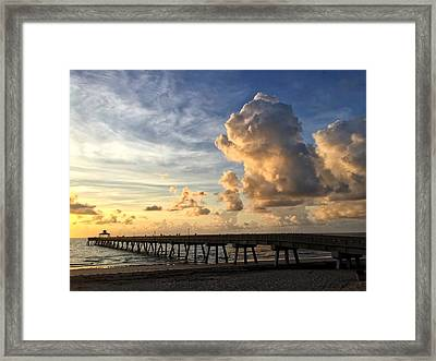 Big Cloud And The Pier, Framed Print