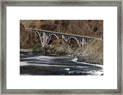 big creek Bridge Framed Print