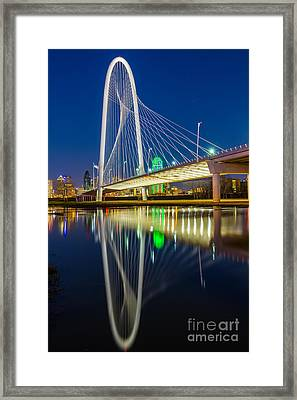 Big D By Night Framed Print by Inge Johnsson