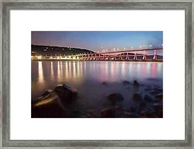 Big Dam Bridge Framed Print