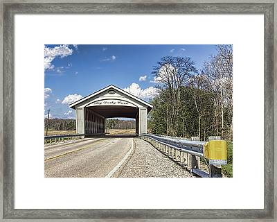 Big Darby Covered Bridge Framed Print by William Sturgell