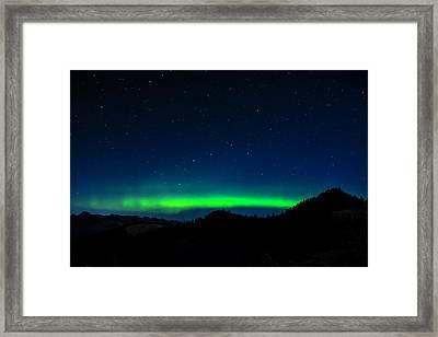 Big Dipper Northern Lights Framed Print by Pelo Blanco Photo