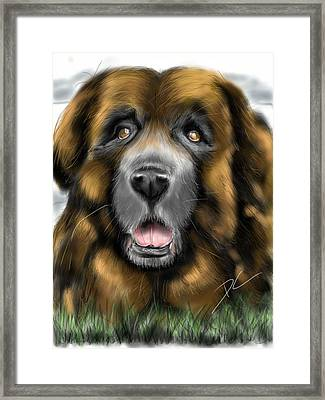 Framed Print featuring the digital art Big Dog by Darren Cannell