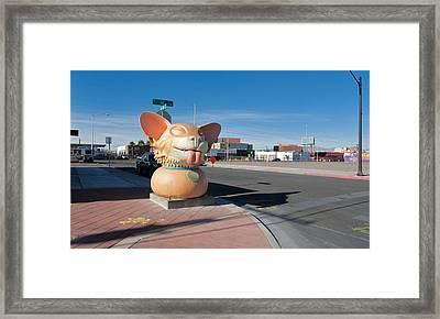 Big Doggie - Downtown Vegas Framed Print by Daniel Furon