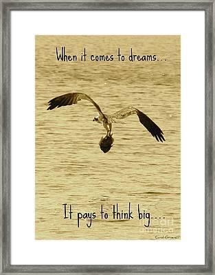 Big Dreams Framed Print by Carol Groenen