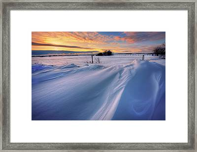 Big Drifts Framed Print by Dan Jurak