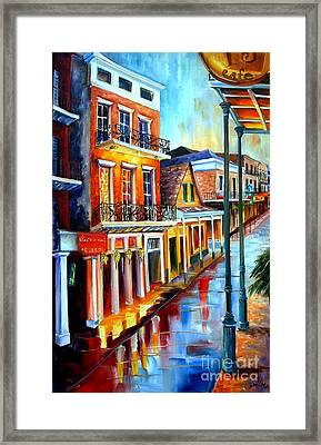 Big Easy Rain Framed Print by Diane Millsap