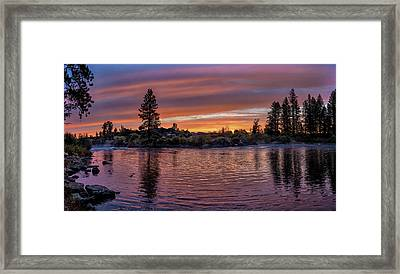 Big Eddy Sunrise Framed Print