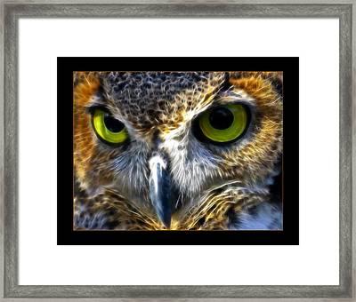 Big Eyes Framed Print by Ricky Barnard