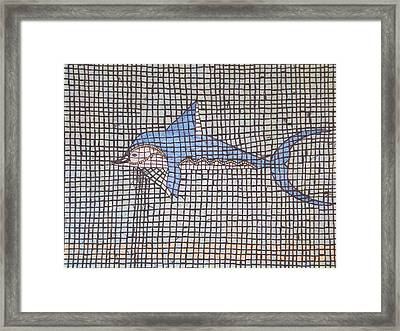 Big Fin Framed Print by Tracy Fetter