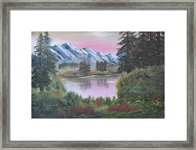Big Fir Lake Framed Print by Lou Magoncia